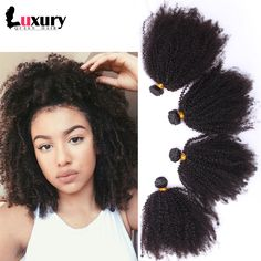 6A Mongolian Kinky Curly Virgin Hair 4pieces/lot Afro Kinky Curly Virgin Hair Rosa Hair Products Human Hair Weaves Natural Black-in Hair Weaves from Health & Beauty on Aliexpress.com | Alibaba Group