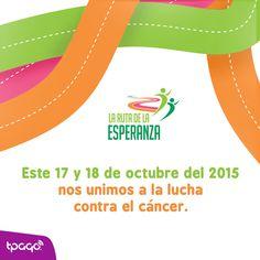 #tPago se une a la lucha contra el cáncer, por que creemos que eres más fuerte que una enfermedad. ¡Te esperamos!  #LaRutadelaEsperanza