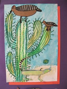 Desert collage- cactus hotel (book) by Brenda Gulberson