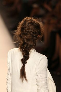 super messy braid, really nice all year round. I wish you had long hair
