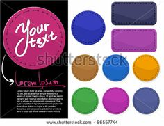 Textile labels. Vector. by Mushakesa, via Shutterstock