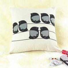 Coussin Créative Oiseau Taie d'oreiller élégant housse de
