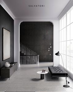 Instagram 上的 Salvatori:「 The hallway or entryway of a home is not only important in terms of its functional aspect, but also the impression it makes, which is why… 」 Berwick Street, Living Area, Living Room, Set Of Drawers, Marble Floor, London Calling, Texture Design, Home Collections, Textured Walls