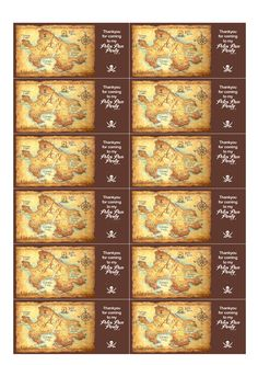 Peter Pan Printables - Thankyou for coming to my party (With Map of Neverland) Pirate Birthday, Pirate Party, Boy Birthday Parties, 4th Birthday, Birthday Ideas, Peter Pan And Tinkerbell, Peter Pan Disney, Peter Pan Neverland, Neverland Map