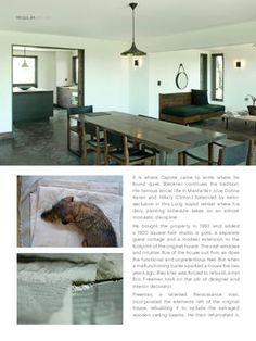 Truman Capote's former home in Sagaponack, now owned by artist Ross Bleckner.     via Est Magazine #3