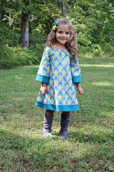 Bohemian Peasant Dress Tutorial. With a long sleeve shirt underneath? So cute!