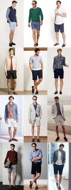 Knowing what men's shoes to wear with shorts is an art that that make or break your summer looks. From sandals and tailored shorts to sneakers and jersey styles, here are the shoe and shorts combinations to know. Gentleman Mode, Gentleman Style, Mens Fashion Blog, Fashion Moda, Men's Fashion, Short Outfits, Casual Outfits, Men Casual, Mens Tailored Shorts