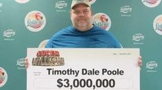 Timothy Poole, a 43-year-old registered sex offender, won 3 million dollars in Florida's Super Millions scratch-off game.  http://www.examiner.com/article/sex-offender-wins-3-million-state-lottery-critics-say-he-shouldn-t-be-paid