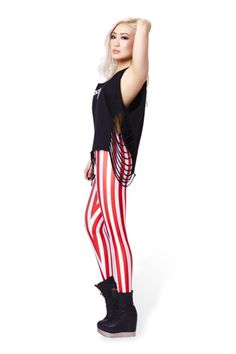Candy Cane Leggings › Black Milk Clothing