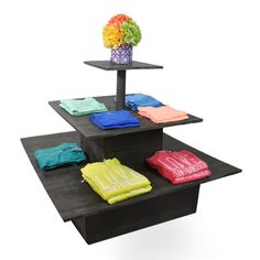 Wooden Square Three Tier Display - Large