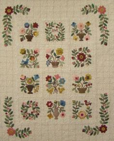 Rosemary's Garden Wool on Wool Quilt @ Primitive Gatherings