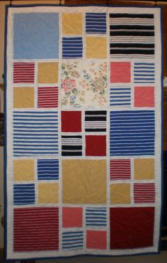 Custom Memory Quilts - Memory Quilts from Clothing----her sight has great designs for making memory quilts