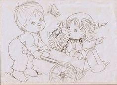 Riscos de Pintura: Riscos de bebe para pintura em fralda