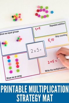 Pin #2 - Printable Multiplication Strategy Mat