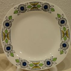 """Vintage Rorstrand """"Aramis"""" Lunch Plate"""