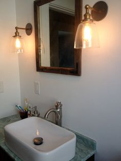Bathroom Remodel - Rustic MIrror
