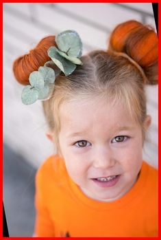 Chelsee from The House of Hood Blog shares fun halloween hairstyles for little girls including two versions of a pumpkin hairstyle! Super easy!#Hairstyles #Halloween #Little #Girls #for pumpkin halloween costume Halloween Hairstyles for Little Girls 37+ | pumpkin halloween costume | 2020