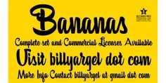 Free font Bananas Personal Use by Billy Argel