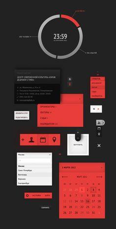 nice UI design by www.azhestkov.ru