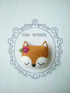 Fox Brooch/Pin made of wool felt.