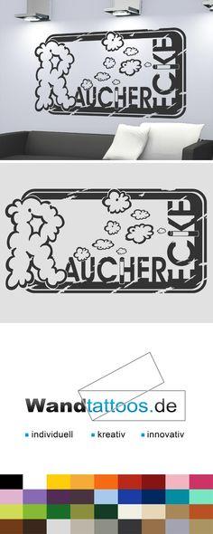 Wandtattoo Button Raucherecke als Idee zur individuellen Wandgestaltung. Einfach Lieblingsfarbe und Größe auswählen. Weitere kreative Anregungen von Wandtattoos.de hier entdecken!
