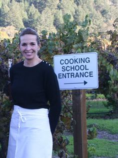 "Andrea welcoming you to ""The Art of Wood-Fired Cooking"" school in Healdsburg, CA."