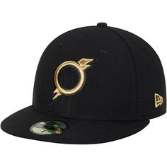 435269d2258 Omaha Storm Chasers New Era Road Authentic Collection 59FIFTY Fitted Hat -  Black
