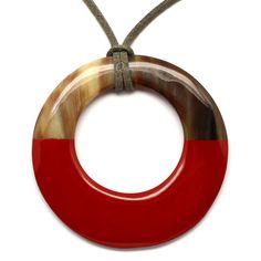 QueCraft Horn & Lacquer Pendant - Q5706-R