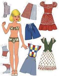 Barbie Paper Dolls, Vintage Paper Dolls, Paper Toys, Paper Crafts, Paper Dolls Printable, Dress Up Dolls, Journal Paper, Mannequins, Doll Toys