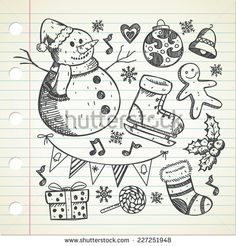 set of object related to #Christmas  - stock #vector #design #graphic #illustration #sketch #background