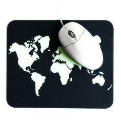 DIY Mauspad mit Motiv Weltkarte in mint | Do it yourself Arbeitsplatz | Office space | desk accessoire | worldmap mousepad | design | idea | Anleitung Tutorial | kreativ | Geschenk | Geschenkidee | Laptop | Computer | Schreibtisch