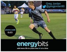 "GREG JORDAN: Greg currently plays for the Minnesota United FC. He has previously played for the Philadelphia Union and Harrisburg City Islanders.Greg also played college soccer at Creighton University between 2008 and 2011. During his time at Creighton, he was named NSCAA All-American Second Team in 2011 as a senior. ""ENERGYbits provide the edge I need over my competition for all 90  minutes. It is a clean energy source that allows me to be the best version of myself both on and off the field."""