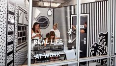 A Surreal Monochromatic Pop up Workspace at Wieden+Kennedy in interior design art  Category