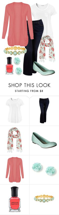"""""""Teacher Outfits on a Teacher's Budget 121"""" by allij28 ❤ liked on Polyvore featuring H&M, Old Navy, River Island, Merona and Deborah Lippmann"""