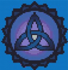 Free Triquetra Cross-stitch Pattern - My Yahoo Image Search Results Celtic Cross Stitch, Beaded Cross Stitch, Cross Stitch Embroidery, Celtic Triquetra, Celtic Symbols, Celtic Knot, Bead Loom Patterns, Peyote Patterns, Beading Patterns