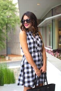 gingham loft dress via @mystylevita [My Style Vita]