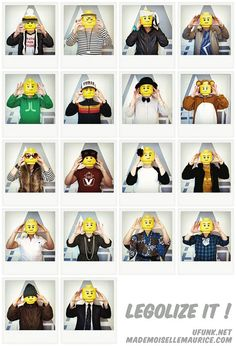 legolize it: LEGO self-portraits
