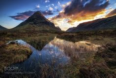 - Glencoe sunset - - Last light on the mountains Glencoe - Scotland 2017