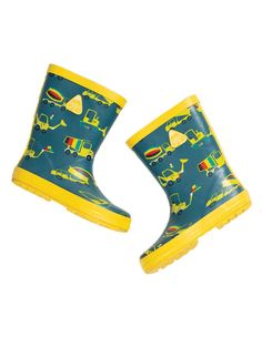 Cizme de ploaie Frugi din cauciuc natural, Dig a Rainbow Natural Rubber, Little Ones, Rubber Rain Boots, Christmas Stockings, Rainy Days, Safety, Fun, Products, Needlepoint Christmas Stockings