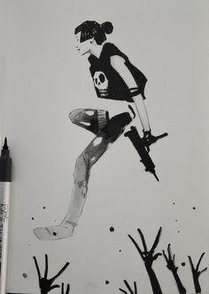 ArtStation - Alexander J Tinta China, Human Art, Copics, Life Drawing, Traditional Art, Anime Manga, Inktober, Digital Illustration, Art Sketches