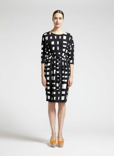 Rasti dress (black, off white)  Clothing, Women, Dresses & skirts   Marimekko