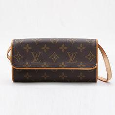Louis Vuitton Pochette Twin PM Monogram Shoulder bags Brown Canvas M51854