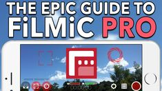 Learn how to master the best professional video camera app for iPhone and iPad: Filmic Pro with our Epic Guide to Filmic Pro for iOS. Video Camera App, Video Editing Apps, Videography, Photography Tips, Learning, Film, Youtube, Iphone, Camera Phone