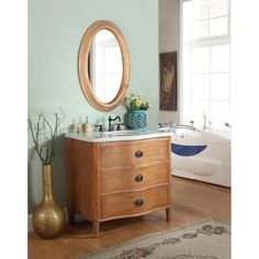 Shop for Crawford & Burke Georgia Vanity Base with Stone Top and Sink. Get free delivery On EVERYTHING* Overstock - Your Online Furniture Outlet Store! Get in rewards with Club O! 36 Bathroom Vanity, Best Bathroom Vanities, Vanity Sink, Bathroom Ideas, Bathroom Inspiration, Inexpensive Furniture, Cheap Furniture, Bathroom Furniture, Furniture Outlet
