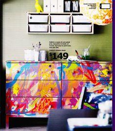 Google Image Result for http://2.bp.blogspot.com/-x18n7Jz1YcA/UFaC5QINILI/AAAAAAAACGU/SiV2T3Neq14/s1600/ikea-graffiti-painted-dresser.jpg