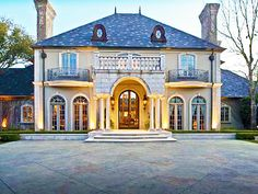 Just stunning! Looks like a French chateau. . (4834 N. Lindhurst, Dallas, Texas) I'll take one of these please!