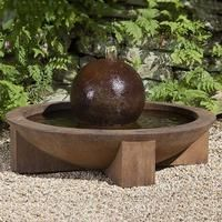 Low Zen Sphere Garden Water Fountain