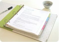 "Make a ""Command Central"" Binder - free tutorial using the ""Create a Home Reference Binder"" link."