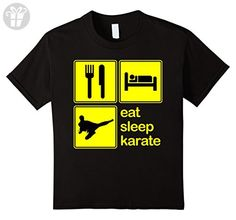 Kids Eat Sleep Karate Repeat Martial Arts Shotokan Funny T-Shirt 12 Black (*Amazon Partner-Link)