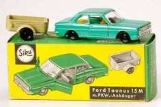 Ford Taunus 15M and Trailer | Model Vehicles Sets | hobbyDB